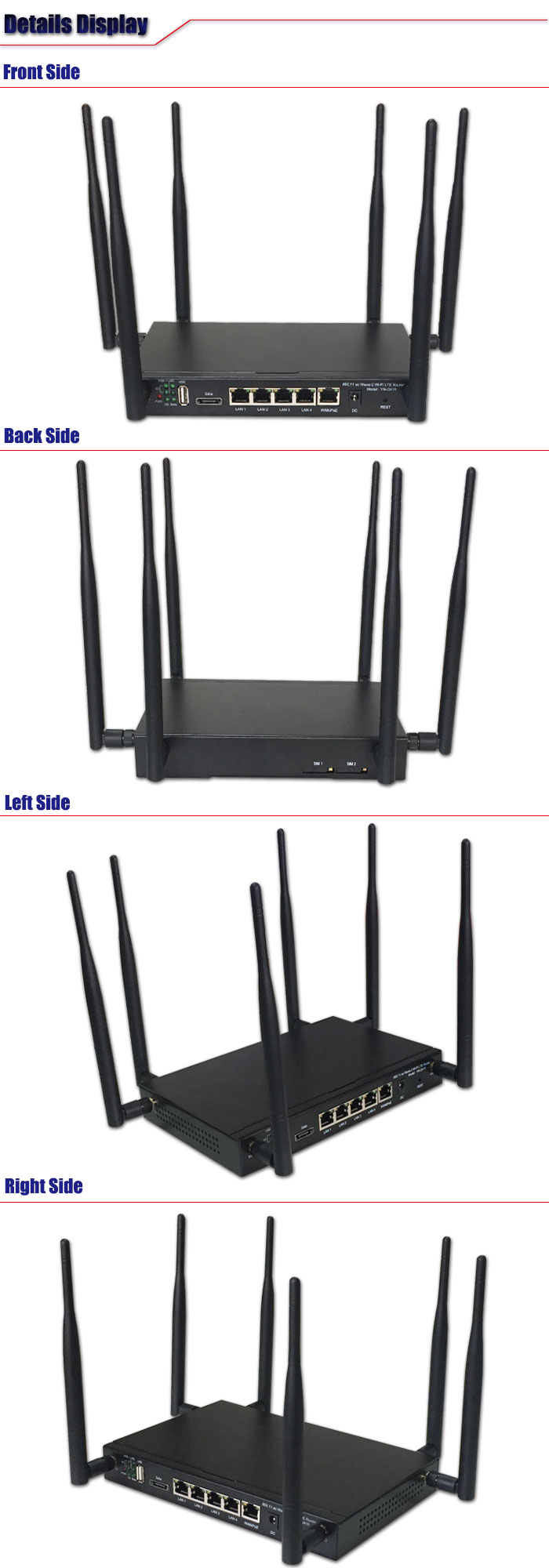802.11ac Dual Band 3g 4g Sim Card Openwrt Slot Wifi Router