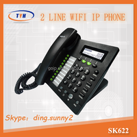 good quality device :SK622W 2 lines desktop Wifi sip ip phone wifi voip phone