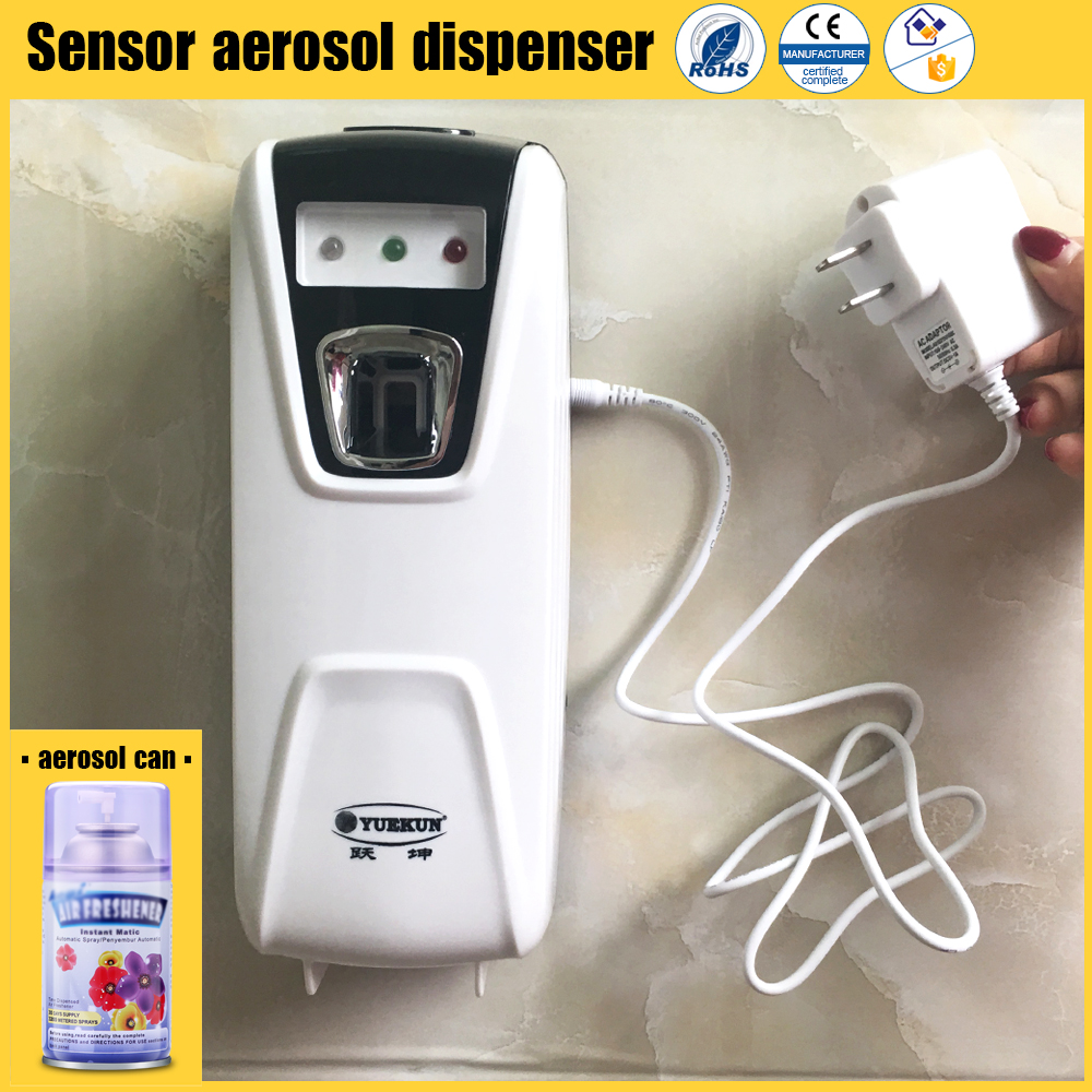 Electric adapter auto perfume dispenser hotel bathroom sensor aerosol dispenser