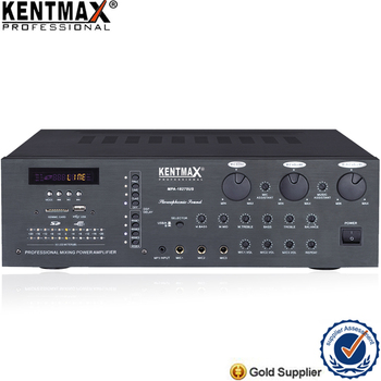 2018 hot sale karaoke stereo mixing power amplifier with USB SD