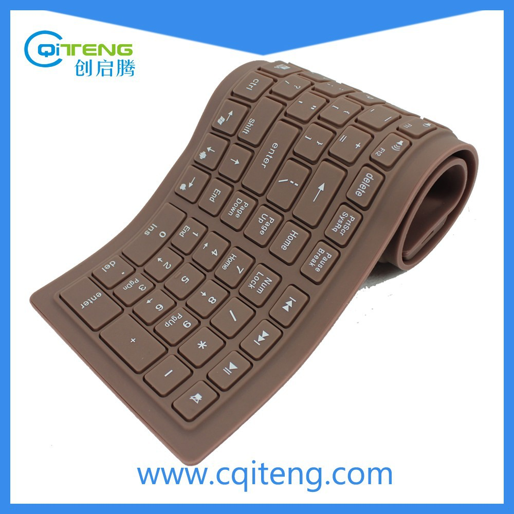 Factory Silicone Waterproof Flexible Wireless Bluetooth Keyboard
