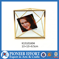 Copper color geometry space photo frame
