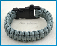 different types of grey 550 paracord survival bracelets