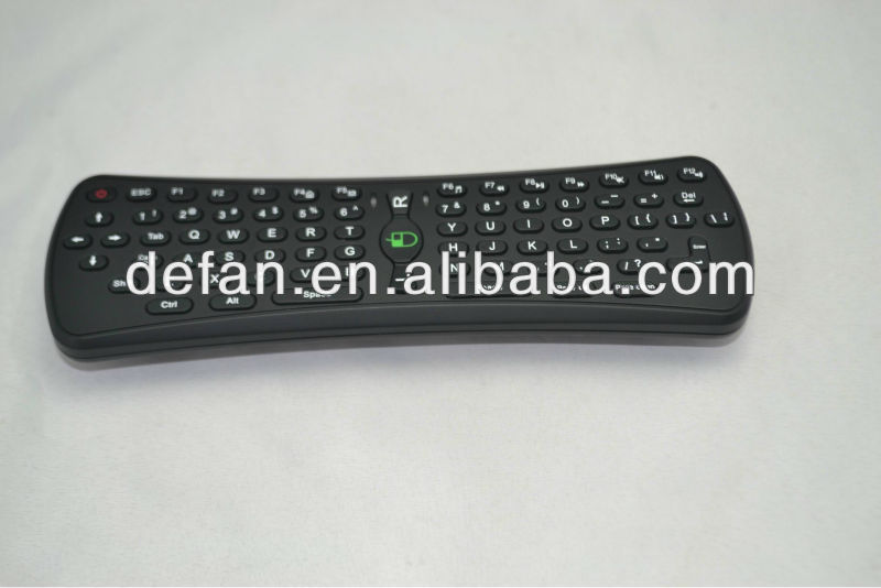 2.4G RF Black Android Wireless Air Flying Mouse and Keyboard Remote Controller
