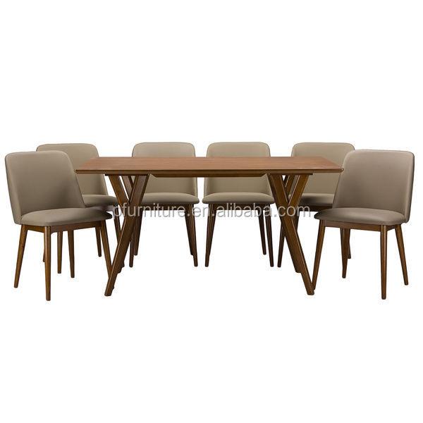 Nórdico simple mesa de comedor y sillas de madera para comedor ...
