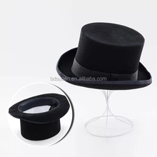 Winter Classic Top Hat for Men Festival Wool Felt in Black with Height 12.5cm