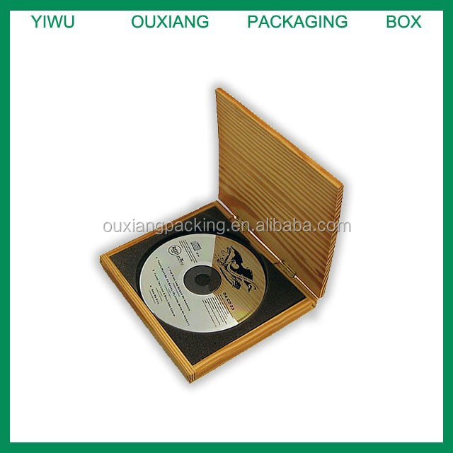 new design hot sale luxury solid wood cd box manufacturer