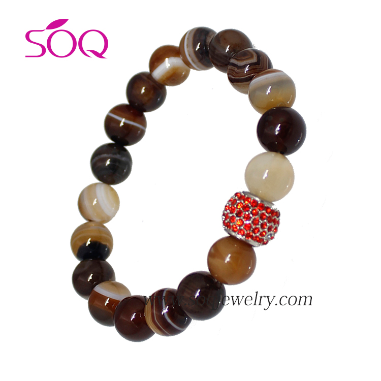 2016 Fashion Diy Cat's Eye Stone , Black Agate,Tiger's Eye and Lava Stone Bracelet