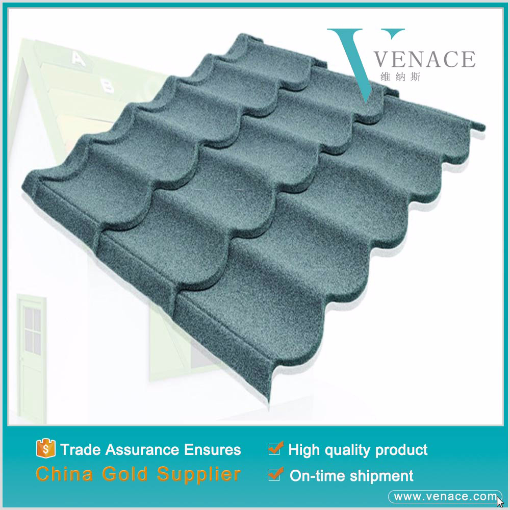 Ecological construction materials colorful stone coated roofing sheet