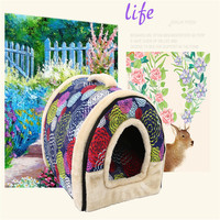 Dog Winter House 2017 New Cat Sofa Dog Bed Mat Soft Cat Warm House Puppy Removable Pet Kennel