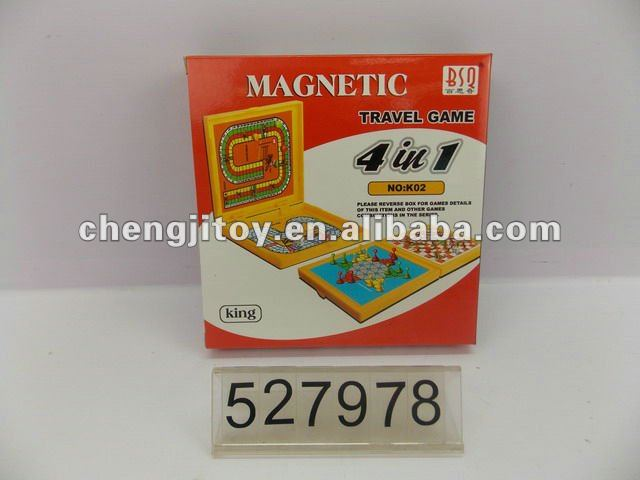 Magnetic travel game 4 in 1