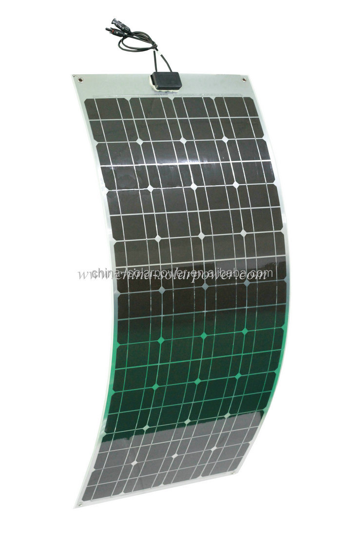 For RV, Marine, Golf Car Use 8 Layers Semiflexible Solar Panel Flexibel Solar Pv Panel 100W 120W