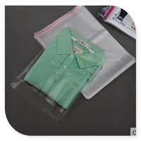 poly transparent pp plastic bag for garment packaging