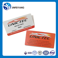 Customized Plastic cut out business card by Offset Printing Machine