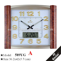 Chinese factory clock with 3d numbers clock glow in the dark