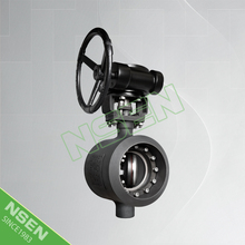 NSEN Hot Sale! Triple Offset Butterfly Valve With Worm Gear API609