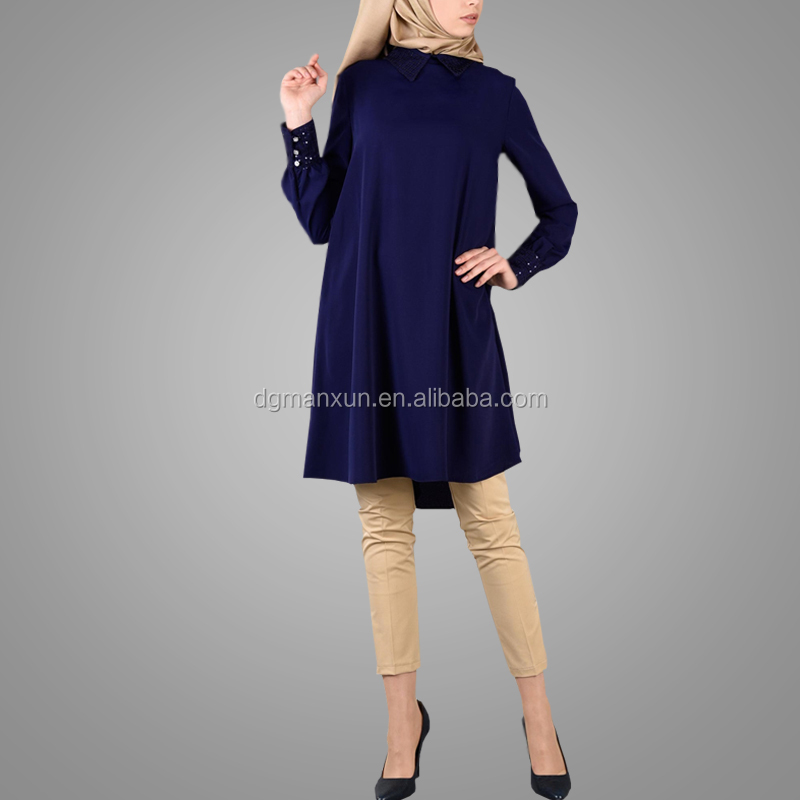 High Quality Beautiful Elegant Tunic Tops Indian Style Fashion Muslim Tops