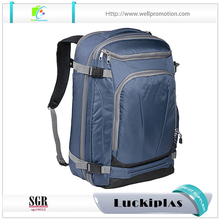 Wholesale business school men's multifunctional Polyester travel backpack with laptop compartment