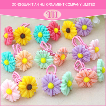 Factory wholesale hair accessory brands lovely colorful flower pattern girls elastic baby best hair bands