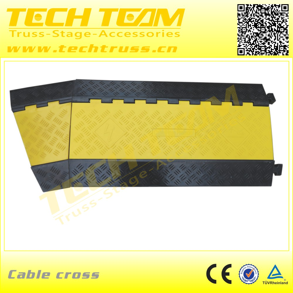 Temporary Floor Rubber Cable Protector 5 hole Cable Protector For Sale