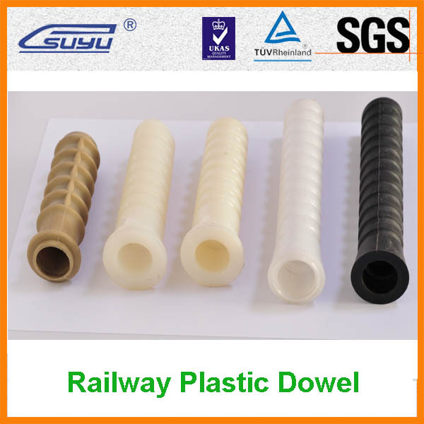 Railway PA66 Plastic Dowels Nylon Sleeve Supplier