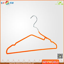 Newworld Orange PVC Coated Laundry Metal Wire Clothes Blanket Hanger