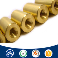 Professional fasteners factory brass internal thread bushing sleeve cnc turning part