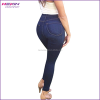 Perfect Waist Straight Butt Lift Quality Classic Blue Jeans Wholesale Price