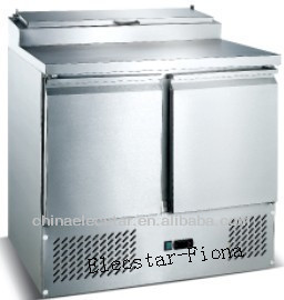 Salad Prep Table Two Doors Reach In Refrigerators R134a , 2 Door Reach In Cooler