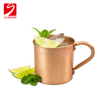 Stainless Steel Plated Drinking Unique Handle Copper Plated Mug