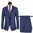 Latest Design Tweed Slim Fit 3 Piece Checked Coat Pant Men Suit Tweed Suit For Men