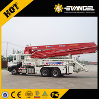 XCMG 37M mobile concrete mixer with pump , hydraulic pump concrete mixer
