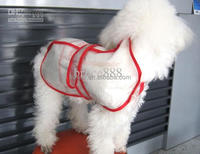 dog disposable plastic raincoat