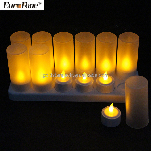 2017 newest led tealight candle without remote control 12pcs/set