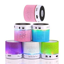 New arrival Portable Mini bluetooth speakers wireless smart hands free LED speakers Support sd card For iPhone free shipping