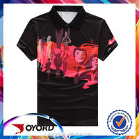 Single Jersey Sublimation Design Embroidery Men's Polo Shirt With Custom Label and Company Logo