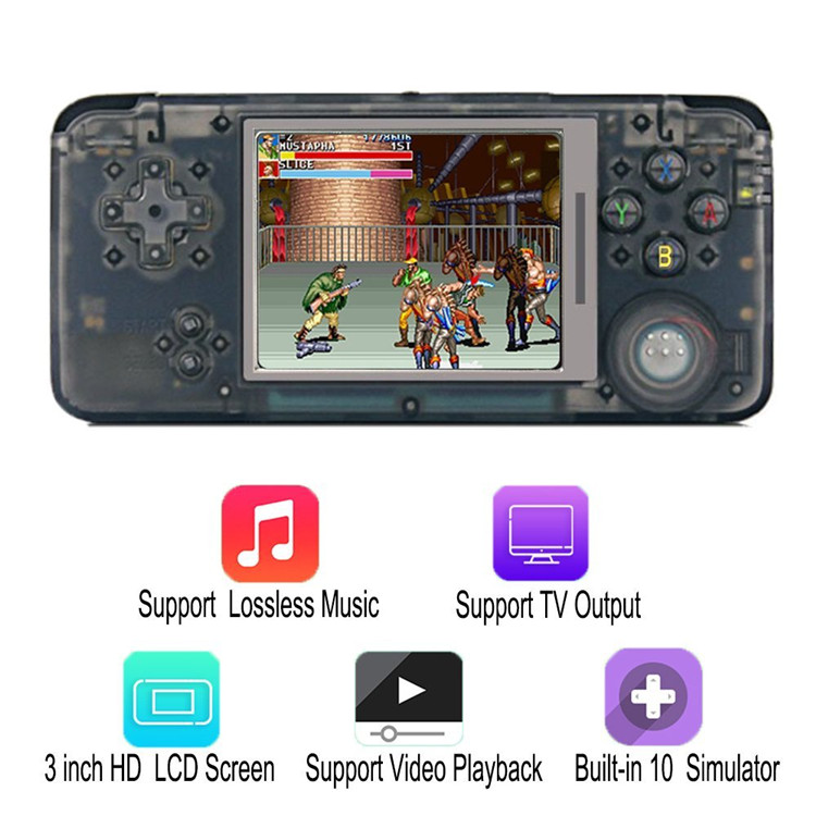 Mini handheld retro video game console portable multimedia player with mp3 mp4 game