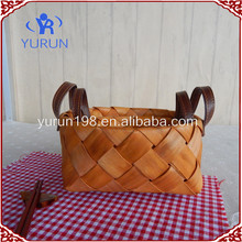 Natural wooden fruit & bread basket