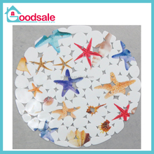 Eco-Friendly Feature PAC Material design Starfish, Dolphin,Stone pattern With Rubber Kitchen Mat