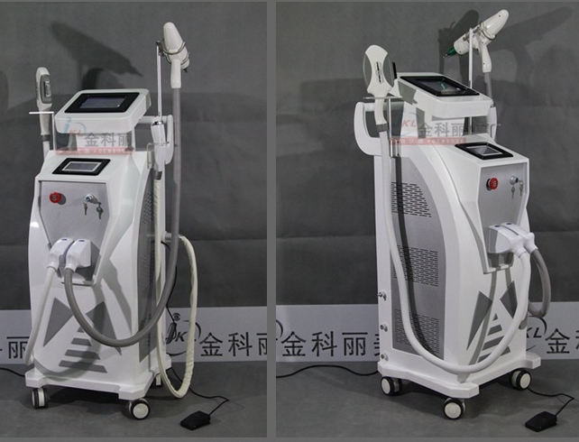 NEW Multifunctional YAG laser Cooling RF IPL E-light RF tattoo/hair removal Beauty equipment JK-09 with CE approval
