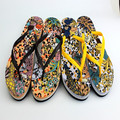 two color way pvc strap cool jungle printing high quality flip flip sandals