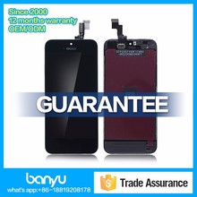 High quality replacement lcd touch screen for iphone 5s digitizer assembly