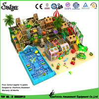 2016 luxury indoor jungle gym used commercial playground equipment sale