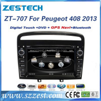 ZESTECH car dvd gps auto parts for Peugeot 408 2013 car multimedia player with gps navigation