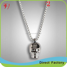 Guns Black Pated Heart Oval Flower Pendant Pearl Chain Necklace