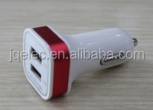 Tablet 2 port car charger with USB cable 2.0 or 3.0, 12v/24v, 12v-36V to 5v 1a 2.1a 3.1a for mobile phone, tablet, iPad, iPod