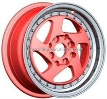High Quality Auto Parts dubai New design 14x6 Car red alloy wheel(ZW-P5218)