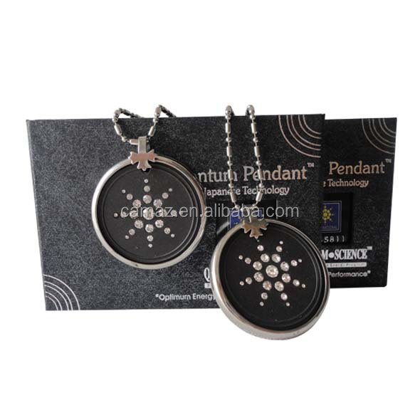 High quality quantum lava energy pendant with diamonds and protector ring