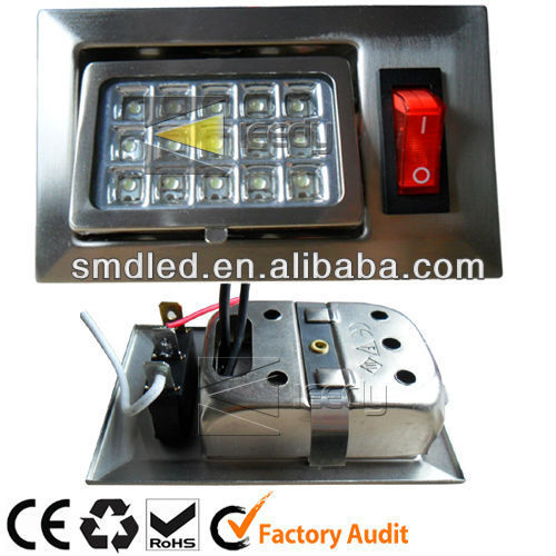 New AC 230v 1.5w led embedded show case light