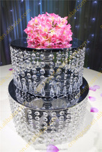 Fashion metal hanging crystals cake stand wedding table decoration